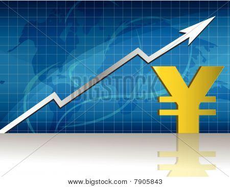 Yen cambio / Vector