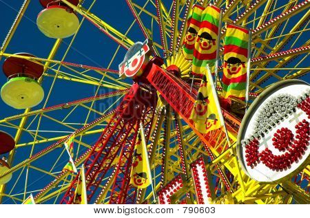Detail of large ferris wheel at a summer exhibition. poster