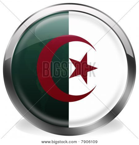 button flag of algeria