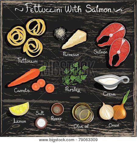 Fettuccini with Salmon