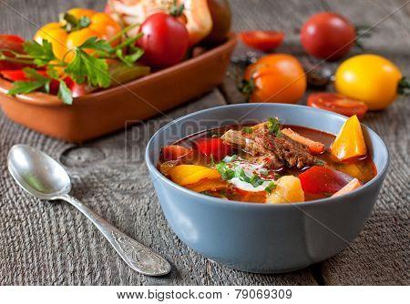 Traditional Hungarian Dish Bograch Goulash