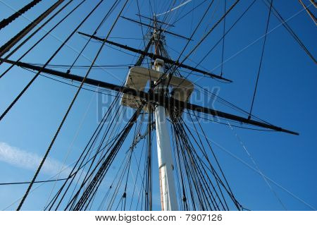 USS Constitution Sails