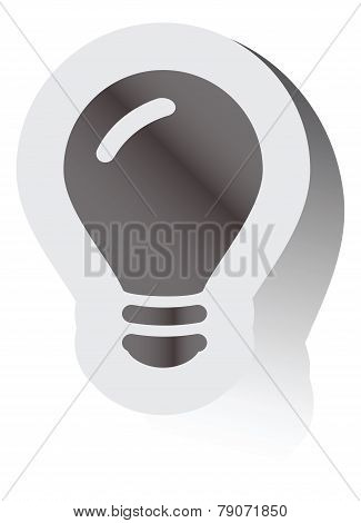 Black icon on a gray background