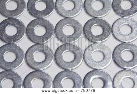 Flat Washers in Rows