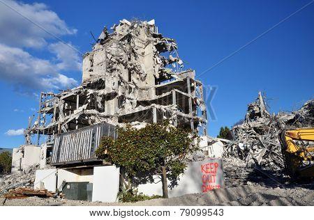 The Destruction Of Terrace On The Park, Christchurch New Zealand
