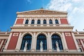Musikverein Vienna historic concert hall where the vienna philharmonic play the Vienna New Year's Concert poster