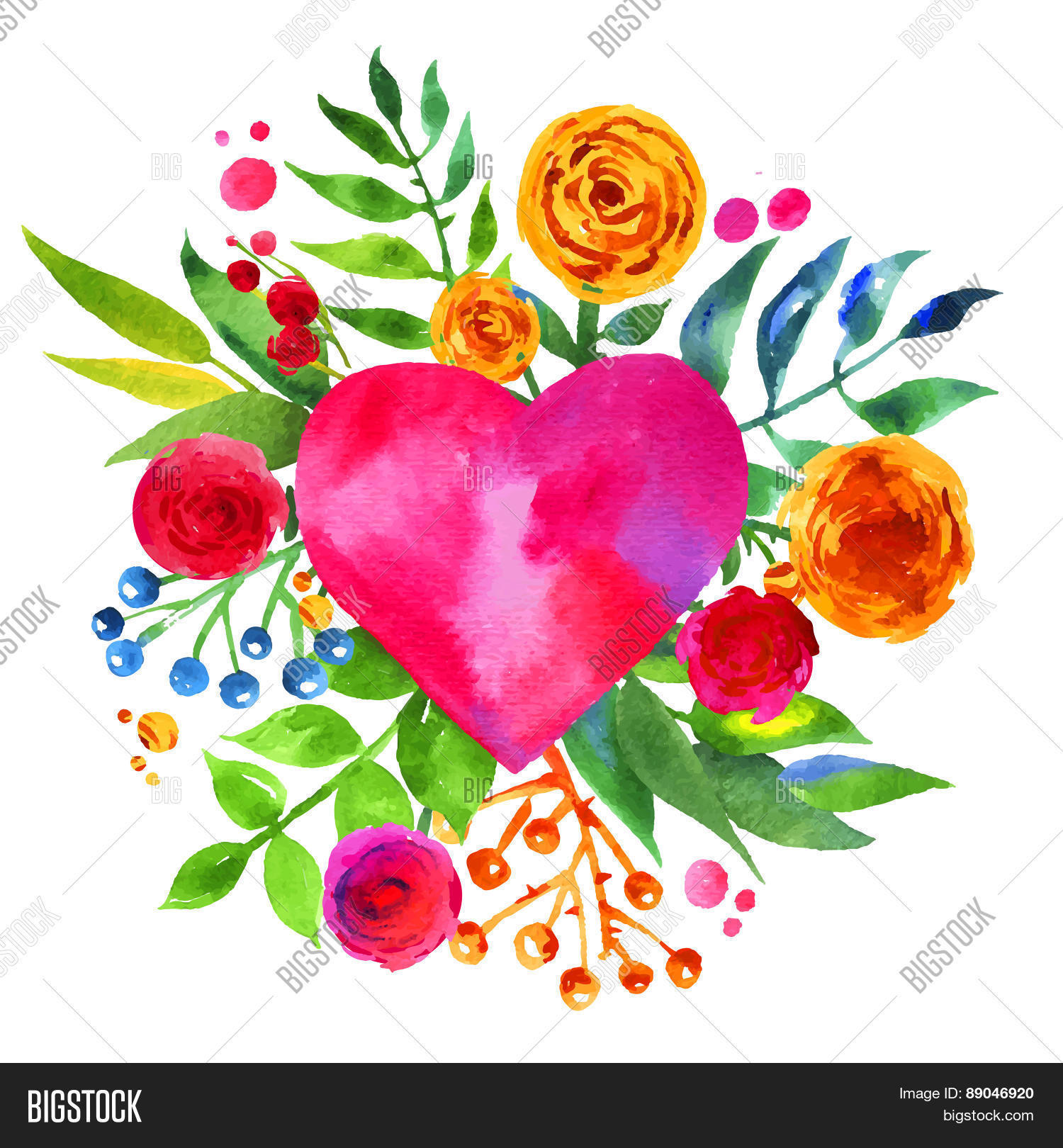 Vintage background vector photo free trial bigstock vintage background with flowers in love and flower heart beautiful watercolor floral heart love izmirmasajfo
