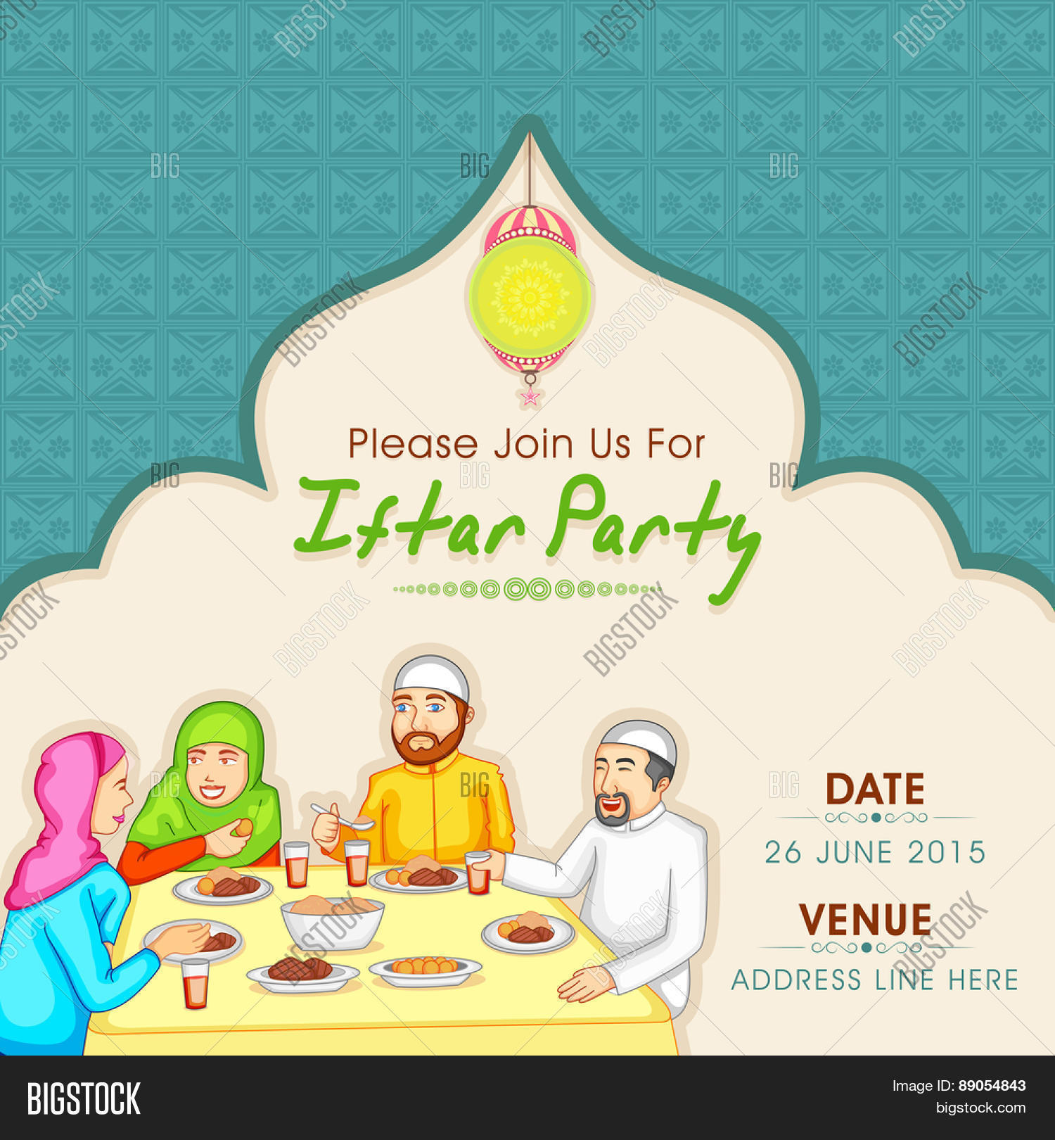 Holy month muslim community vector photo bigstock holy month of muslim community ramadan kareem celebration invitation card with illustration of a islamic stopboris Images