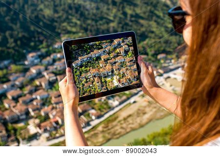 Photographing Berat city in Albania