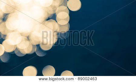 Blur Bokeh Darkblue And Yellow Background