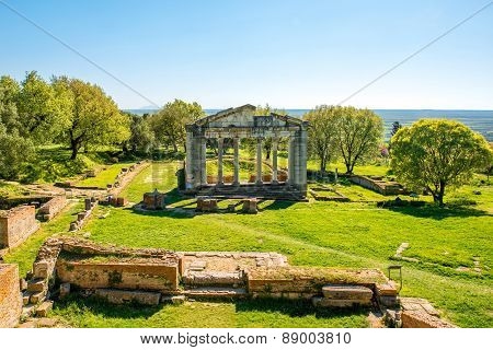 Temple ruins in Ancient Apollonia