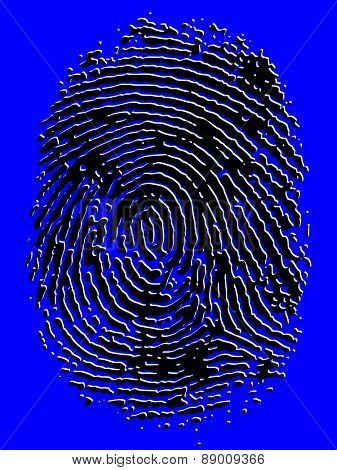 Embossed Vector Fingerprint-  Very accurately scanned and traced ( Vector is transparent so it can be overlaid on other images, vectors etc.)
