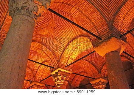 Ceiling Of Underground Basilica Cistern