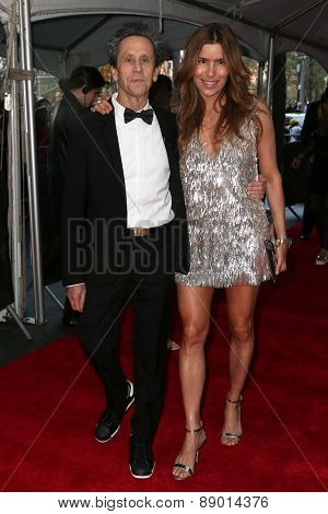 NEW YORK-APR 21: Producer Brian Grazer (L) and Veronica Smiley attend the 2015 Time 100 Gala at Frederick P. Rose Hall, Jazz at Lincoln Center on April 21, 2015 in New York City.