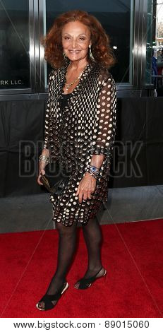 NEW YORK-APR 21: Designer Diane von Furstenberg attends the 2015 Time 100 Gala at Frederick P. Rose Hall, Jazz at Lincoln Center on April 21, 2015 in New York City.
