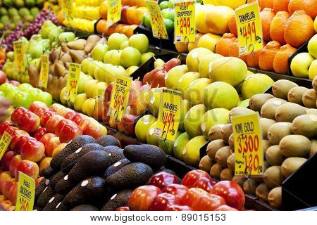 Fruits in a market