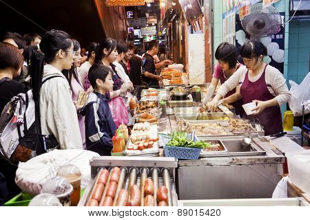Street food in Hong Kong