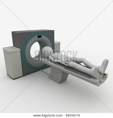 3D Man with scanner