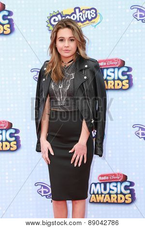 LOS ANGELES - APR 25:  Bea Miller at the Radio DIsney Music Awards 2015 at the Nokia Theater on April 25, 2015 in Los Angeles, CA