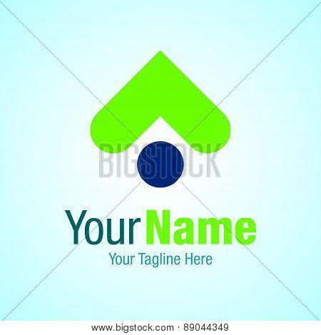 Step up green progress graphic design logo icon