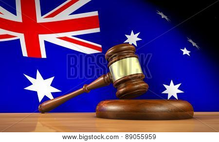 Australian Law And Justice Concept