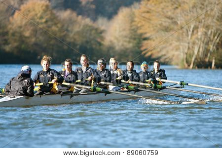 Women's College Crew Team Rows Down Atlanta River