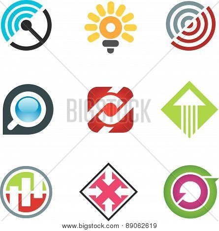 Business logo for creative and free spirited innovators in social network