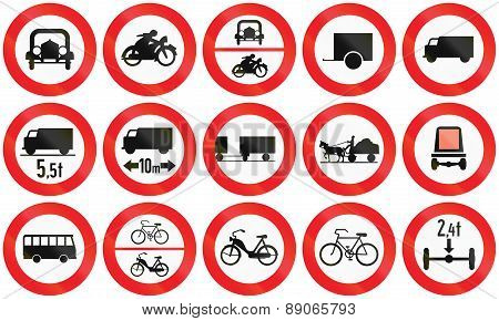 Prohibition Signs In Austria