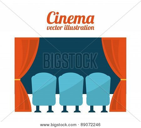 cinema design over white background vector illustration poster