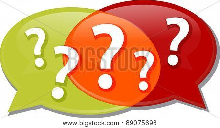 Illustration concept clipart questions queries dialog questions conversation speech bubbles