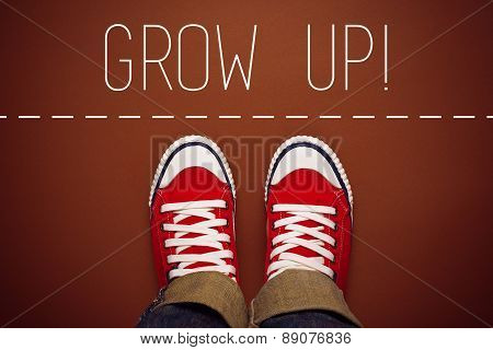 Grow Up Reminder For Young Person, Top View