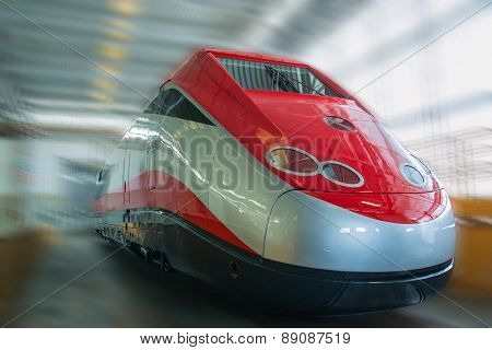 New Red Grey Fast Train