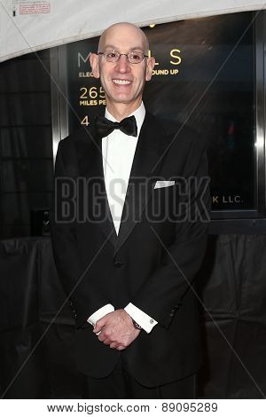 NEW YORK-APR 21: NBA Commissioner Adam Silver attends the 2015 Time 100 Gala at Frederick P. Rose Hall, Jazz at Lincoln Center on April 21, 2015 in New York City.