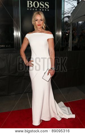 NEW YORK-APR 21: Alpine skier Lindsey Vonn attends the 2015 Time 100 Gala at Frederick P. Rose Hall, Jazz at Lincoln Center on April 21, 2015 in New York City.