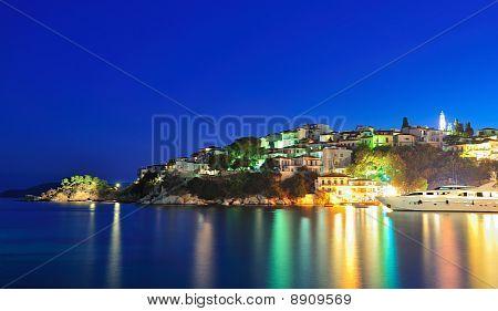 Night Image From The Island Of Skiathos, Greece
