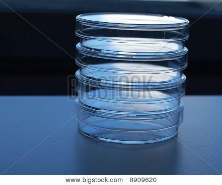 Empty laboratory test plates