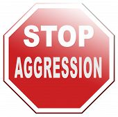 stop aggression and violence no fighting prevent Physical or verbal aggressivity poster