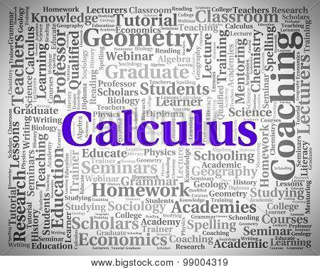 Calculus Word Indicates Algebra Figures And Words