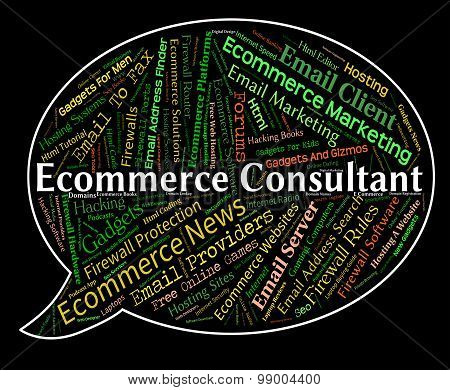 Ecommerce Consultant Shows Online Business And Advisers