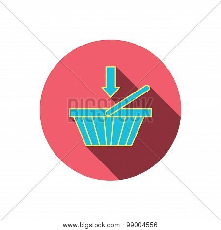 Shopping cart icon. Online buying sign.