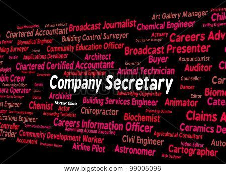 Company Secretary Represents Personal Assistant And Administrator