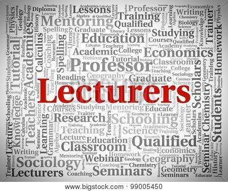 Lecturers Word Represents Recitation Recitations And Oration