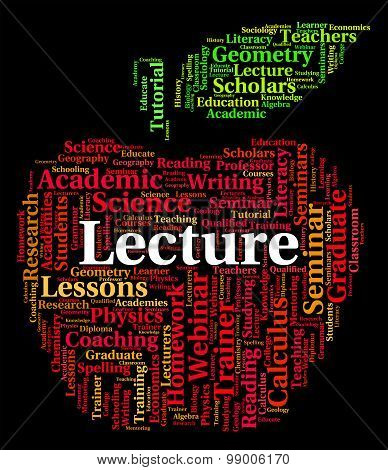 Lecture Word Represents Talks Address And Lessons