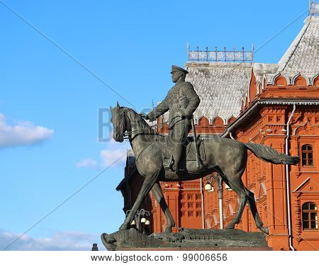 The Monument To Marshal Georgy Zhukov