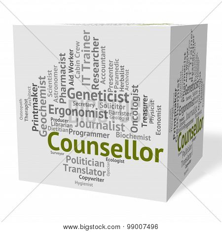 Counsellor Job Means Hiring Employee And Recruitment