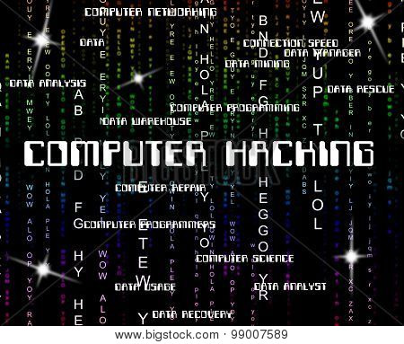 Computer Hacking Meaning Internet Technology And Malware poster