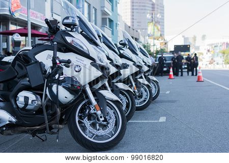 Police Motorcycles Parked