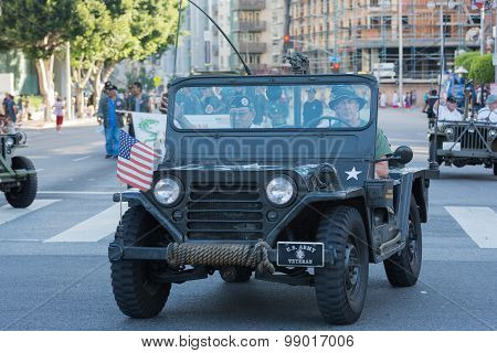 World War Ii Military Vehicle With Veterans.