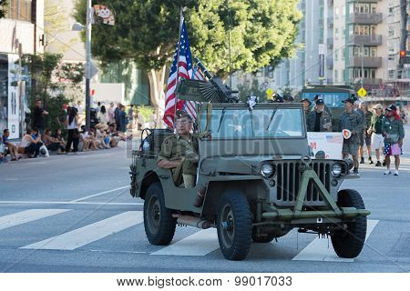 Military Vehicle With Veterans