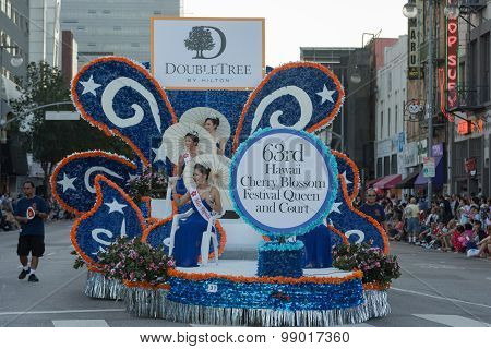 Princess  Ride On A Float